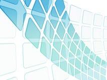 Abstrakcjonistyczny tło z błękitnymi kwadratami Zdjęcia Royalty Free