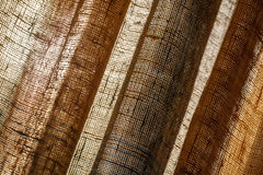 Abstrakcjonistyczny tło z brezentowymi tiulowymi zasłonami Fotografia Stock