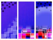 Błękitni sztandarów kwadraty Obraz Royalty Free