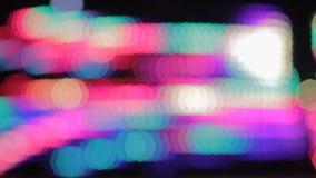 Abstrakcjonistyczny tło z colourful iluminuje PROWADZĄCYMI światłami, karuzela ilustracji
