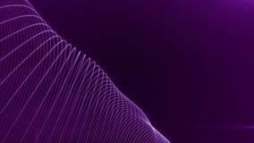 Abstrakcjonistyczny tło z cyfrowymi fala cząsteczkami na falowanie lampasach Animacja bezszwowy loopgood dla Youtube wstępu lub zdjęcie wideo