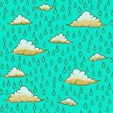 Abstrakcjonistyczny tło z deszczem i chmurą Obraz Royalty Free
