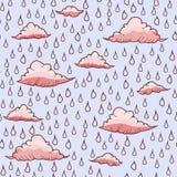 Abstrakcjonistyczny tło z deszczem i chmurą Zdjęcia Royalty Free