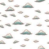 Abstrakcjonistyczny tło z deszczem i chmurą Obraz Stock