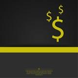 Abstrakcjonistyczny tło z dolarowym znakiem Obrazy Stock