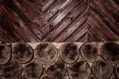 Abstrakcjonistyczny tło z drewnianą ścianą zdjęcie stock