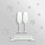 Abstrakcjonistyczny tło z Dwa szkłami szampan Obraz Stock