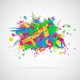 Abstrakcjonistyczny tło z farb pluśnięciami. Zdjęcie Stock