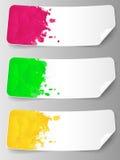 Abstrakcjonistyczny tło z farb pluśnięciami. Obrazy Royalty Free