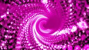 Abstrakcjonistyczny tło z fiołkowymi cząsteczkami ilustracji