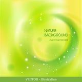 Abstrakcjonistyczny tło z futurystycznym zielonym okręgiem. Fotografia Royalty Free