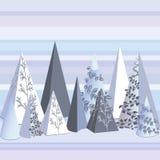 Abstrakcjonistyczny tło z geometrycznymi elementami i krajobrazem Skład z trójbokami Wiadomości prezentacje lub tożsamość układy royalty ilustracja