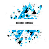 Abstrakcjonistyczny tło z geometrycznymi trójboków kształtami ilustracja wektor