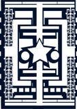 Abstrakcjonistyczny tło z gwiazdami odizolowywać w błękicie Zdjęcie Royalty Free
