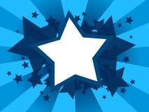Abstrakcjonistyczny tło z gwiazdowymi kształtami Obraz Stock