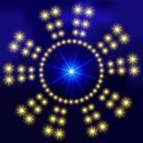 Abstrakcjonistyczny tło z jarzyć się okręgi jaskrawe świecące gwiazdy Dla projekta strony internetowe, sztandary Na polu dla teks Obrazy Stock