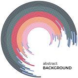 Abstrakcjonistyczny tło z jaskrawej tęczy kolorowymi liniami Barwioni okręgi z miejscem dla twój teksta royalty ilustracja