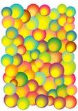 Abstrakcjonistyczny tło z jaskrawymi bąblami Zdjęcie Royalty Free