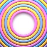 Abstrakcjonistyczny tło z kolorowymi glansowanymi pierścionkami Zdjęcie Stock