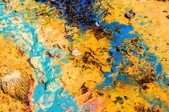 Abstrakcjonistyczny tło z koloru ciecza teksturą Obraz Stock
