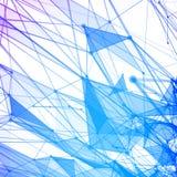 Abstrakcjonistyczny tło z kropkowaną siatką Zdjęcie Royalty Free
