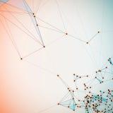 Abstrakcjonistyczny tło z kropkowaną siatką Zdjęcia Stock