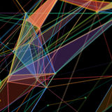 Abstrakcjonistyczny tło z kropkowaną siatką Zdjęcie Stock