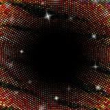Abstrakcjonistyczny tło z kropkowanymi okręgami Zdjęcia Stock