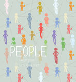 Abstrakcjonistyczny tło z ludźmi socjalny sieci Zdjęcie Royalty Free