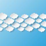 Abstrakcjonistyczny tło z papierowymi chmurami Obrazy Royalty Free