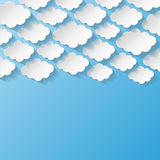 Abstrakcjonistyczny tło z papierowymi chmurami Obrazy Stock