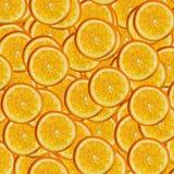 Abstrakcjonistyczny tło z plasterkami świeża pomarańcze Bezszwowy wzór dla projekta Zakończenie tła muśnięcia zakończenie odizolo Obrazy Royalty Free