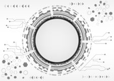 Abstrakcjonistyczny tło z różnorodnym technologia elementów techniki komunikaci pojęciem ilustracji
