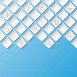 Abstrakcjonistyczny tło z symbolami Fotografia Stock