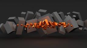 Abstrakcjonistyczny tło z sześcianami Zdjęcie Stock