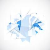 Abstrakcjonistyczny tło z technologicznymi błękitnymi elementami