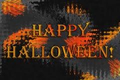 Abstrakcjonistyczny tło z tekstem «Szczęśliwy Halloween! « obrazy stock