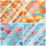 Abstrakcjonistyczny tło z trójbokami również zwrócić corel ilustracji wektora Zdjęcie Stock