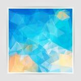 Abstrakcjonistyczny tło z Trójgraniastym wzorem Zdjęcie Stock