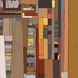 Abstrakcjonistyczny tło z uderzeniami i pluśnięciami, lampasa wzór ilustracji