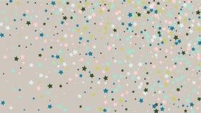 Abstrakcjonistyczny tło z Wiele Przypadkowymi Spada Złotymi gwiazda confetti na tle ilustracji