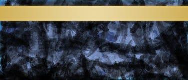 Abstrakcjonistyczny tło z złocistym tasiemkowym lampasa nagłówka projekta szablonem zdjęcie stock