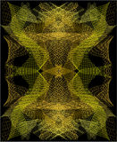 Abstrakcjonistyczny tło z złotą siatką Zdjęcie Stock