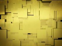 Abstrakcjonistyczny tło z złotymi szorstkimi kwadratami Obraz Stock