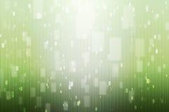 Abstrakcjonistyczny tło z zielenią i światłami białymi Obrazy Royalty Free