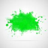 Abstrakcjonistyczny tło z zielonymi farb pluśnięciami. Zdjęcie Royalty Free
