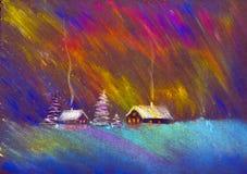 abstrakcjonistyczny tło zaświeca północnego wektor Zdjęcia Stock