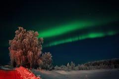 abstrakcjonistyczny tło zaświeca północnego wektor zdjęcie stock