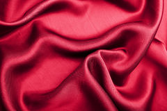 abstrakcjonistyczny tła czerwieni jedwab Zdjęcia Stock