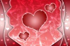 abstrakcjonistyczny tła czerwieni serce Obrazy Royalty Free